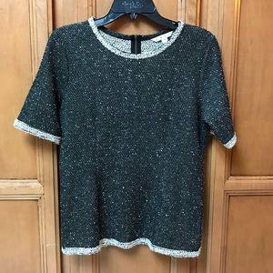 Cabi, light, short sleeve light sweater.